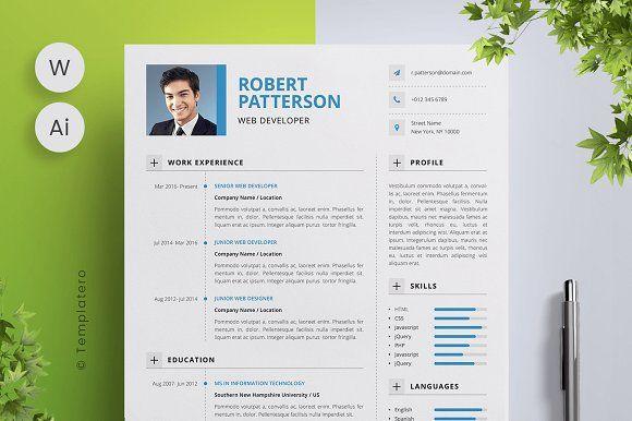 Resume Templates & Design : Resume + Cover Letter Editable ...