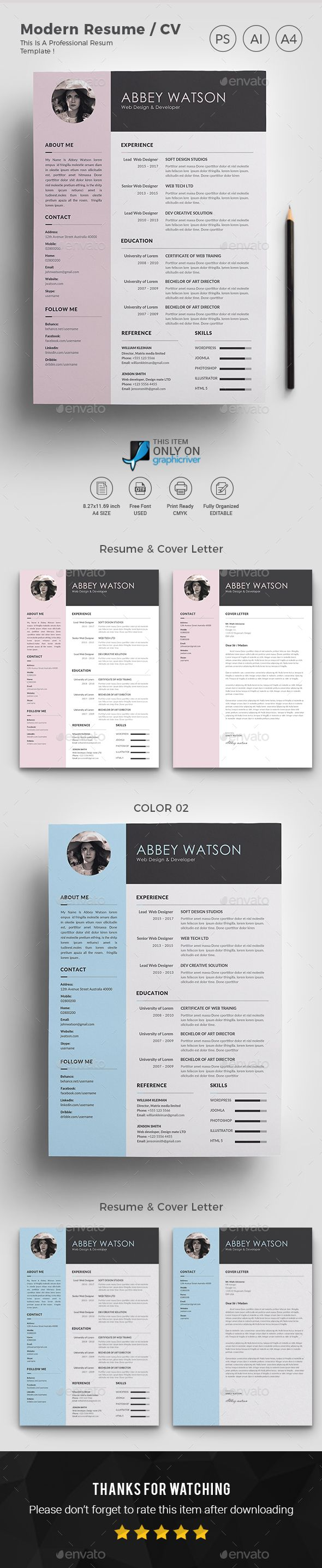 Resume Templates : Resume Template PSD, AI Illustrator ...