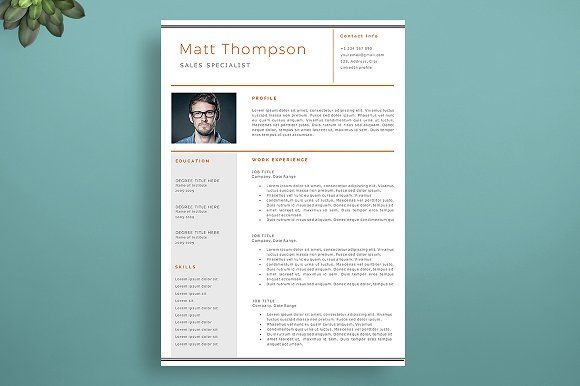 Resume Templates & Design : Impressive Resume Template ...